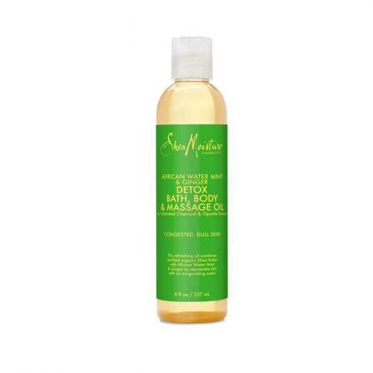 SheaMoisture AFRICAN WATER MINT GINGER DETOX BATH BODY MASSAGE OIL