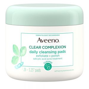 AVEENO® CLEAR COMPLEXION Daily Cleansing Exfoliating Pads For Face