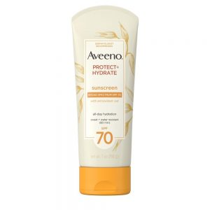 AVEENO® PROTECT & HYDRATE LOTION SUNSCREEN WITH BROAD SPECTRUM SPF 70