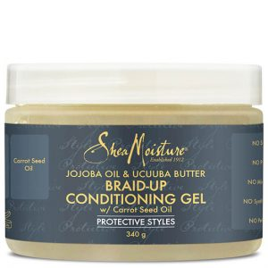 Shea Moisture Jojoba Oil & Ucuuba Butter Braid Conditioning & Control Gel 12oz